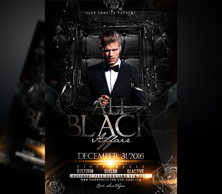 all black affair psd template i for your awesome parties