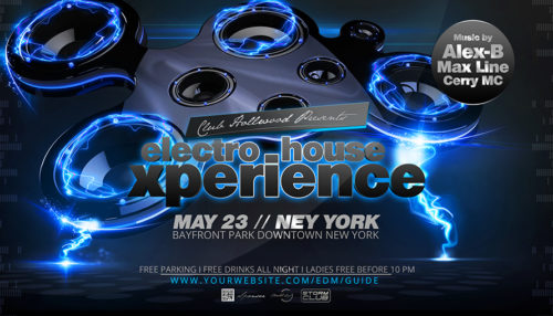 Electro House Party Flyer(Experience)