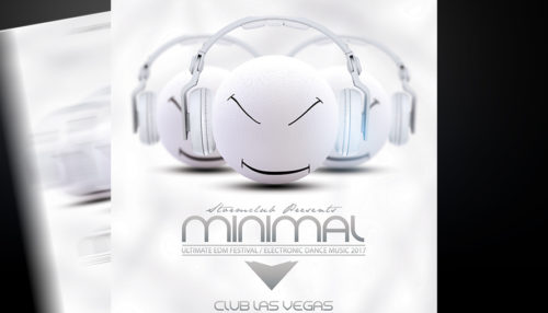 Minimal Electro House Flyer Template