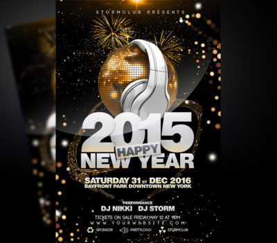 New Year Disco Flyer Template