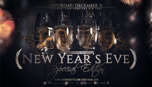 New Years Eve Flyer Template V5