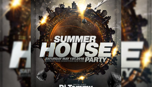 Summer House Party Flyer Template