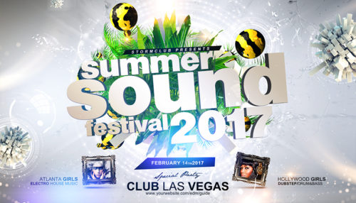 Summer Sound Festival Flyer Template