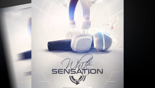 White Sensation Flyer Template