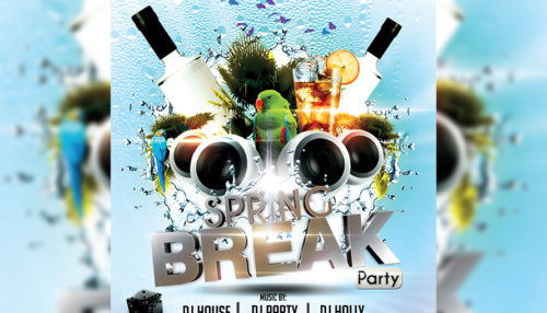 Hot Spring Break Flyer Template