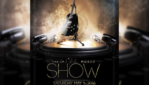 The Live Show Flyer Template