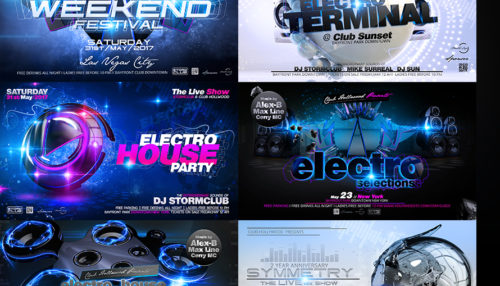 Party Flyer Electro Bundle