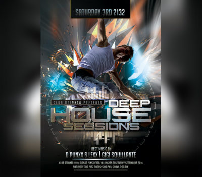 Electro House Music DJ Flyer Template
